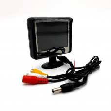 """3.5"""" Colour LCD Monitor with Dual Video Inputs"""