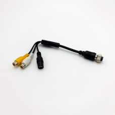 Vehicle Camera Cable 4 Pin Female to RCA Female +DC