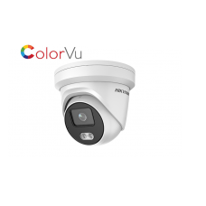 Hikvision 4MP ColorVu Fixed Turret Network Camera, white light, 2.8mm fixed lens
