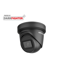 Hikvision 6MP IR Fixed Turret Network Black Camera, Powered by Darkfighter, 2.8mm lens