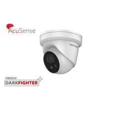 Hikvision 4MP IR Fixed Turret Network AcuSense Camera, Built-In Mic, 2.8mm lens