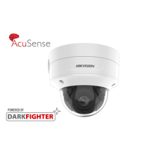 Hikvision 4MP IR Varifocal Dome Network AcuSense Camera, Powered by Darkfighter, 2.8mm to 12mm lens
